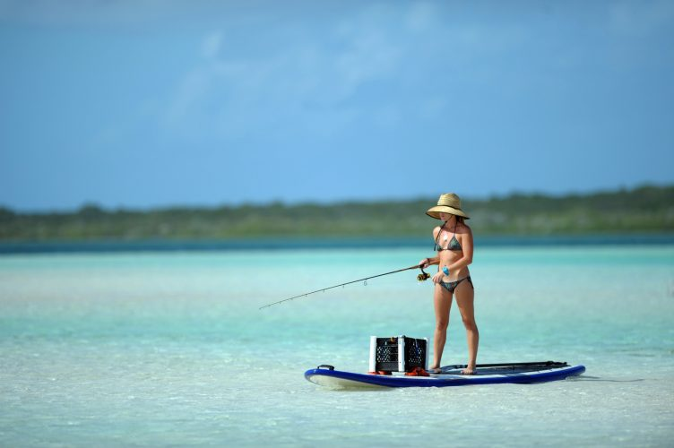 paddle board fishing